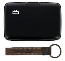 Offres spéciales Ogon Aluminum Wallet RFID Black + Gratuit Cuir Porte Clé