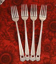 Set 4 Grille Viande Forks ETERNALLY YOURS 1847 Rogers Vintage 1941 Silver Plate