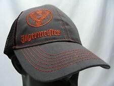 JAGERMEISTER - GRAY & BLACK - ADJUSTABLE SNAPBACK BALL CAP HAT!