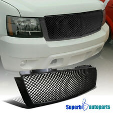 Chevy 07-14 Tahoe Avalanche Suburban Glossy Black Mesh Bumper Hood Grille 1PC
