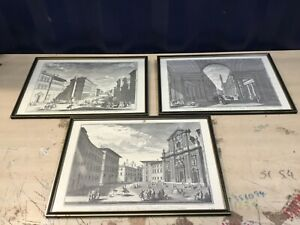 3 Giuseppe ZOCCHI Etching Prints Of FLORENCE ITALY ?