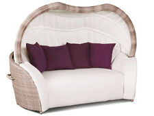 Sonneninsel Luxor Lounge Small Cubu Cream Garten Liege Polyrattan Lounge Sofa