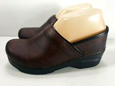 Dansko Professional Clogs Oiled Leather Antique Brown Womens Size EUR 37  6.5-7