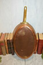 Rare Antique French Copper E. Dehillerin Oval Frying Fish Saute Pan Stamped