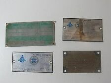 Vintage Assorted Travel Trailer Emblems Nameplate RV Airstream Shasta Rare LOT17