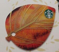 HTF Starbucks 2015 Mini Leaf Gift Card, Mini Keychain                        (C)