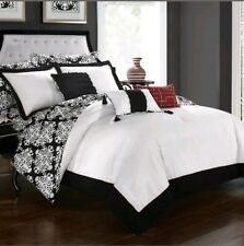 💥New Queen Dize Chic Home Tania Comforter Set Black