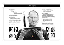 Apple Poster STEVE JOBS & THE CRAZY ONES - Wandbild DIN A1 - 59,4 cm x 84,1 cm