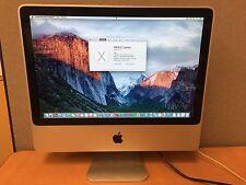 "Apple iMac 8,1 Core 2 Duo 20"" 2.4GHZ 4GB RAM 250GB HD 2008 -A1224 - MB323LL/A"