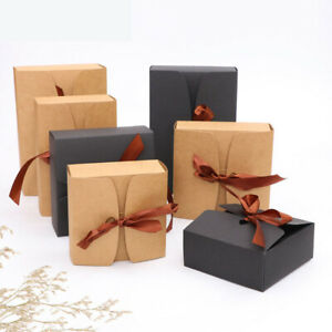 10pcs Large Size Kraft Cake Gifts Heart Candy Wedding Party Rustic Boxes