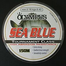 OLYMPUS MONOFILO SEA BLUE EXTRA STRONG EXELLENT KNOT STRENGTH 150m ~ 0.18mm BLUE