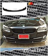 Carbon Fiber H Front Bumper Lip Spoiler for 11-14 BMW F10 Pre-LCI 5-Series Sedan