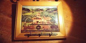 Vintage Fox Hill Farms Ceramic Tile Wall Hanging Key Holder