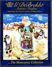 Two G. DeBrekht Catalogs 2008 2009 Reference Santa Angel Snowman