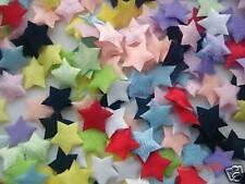 200 Felt/Satin Mini Star Applique/trim/doll/padded/Trim/Sewing/Double Sided H126