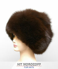 Brown FOX Fur Hat Russian Winter Schapka Pelzmütze Pelz Fellmütze Fuchs Mütze