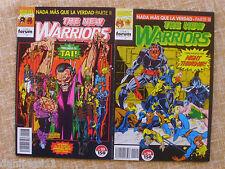 Dos comics, The New Warriors, nº 23 y 24, Stan Lee, Comics Forum, Marvel, 1993