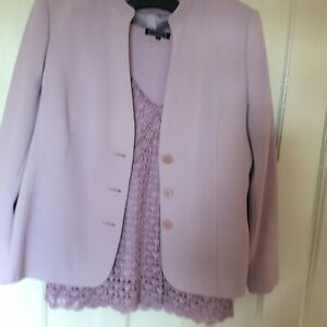 Debenhams Classic Jacket 18 And Skirt 16  + Lace Top  18 Pale Pink
