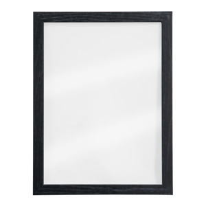 Wall Mounted Wooden Frame Glass Board with 2 Free Chalk Markers, Double Sided