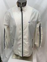Nike Mens Large Full Zip Vented Windbreaker Jacket  Big Back Logo