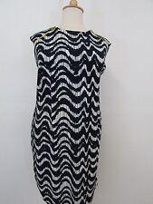 KSL Blue/White w/Yellow Zipper  Sleeveless Dress-Size 22W