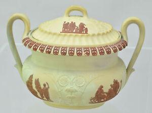 Antique Wedgwood Caneware and Rosso Antico Sugar Bowl 1815