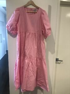 Nice Martin Darla Pink Babydoll Tiered Dress BNWT