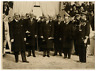 CELEBRITES Agence Trampus Le Roi de Suède et le président M. Lebrun au Grand Pal