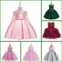 Dress Bridesmaid Dresses Flower Party Wedding Formal Kid Girl Princess Baby Tutu