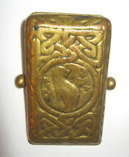 Antique L.C. T. Tiffany Studios Gold Bronze Zodiac Art Desk Paper Clip Holder