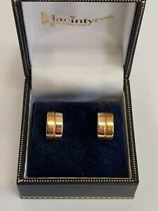 18ct Yellow Gold Earrings (Original Box)