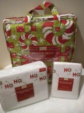 NEW DEBBIE MUMM Holiday Bedding TWIN sheets Quilt & Extra Pillow Cases HO HO HO