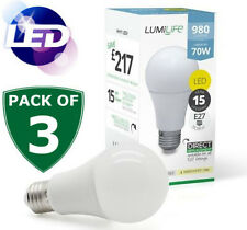 3 High Power 12w = 75w 1000lm  E27 LED Edison Screw GLS Bulb Cool Daylight White