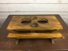 Wood Picnic Table Condiment Bar Caddy Holder Storage Salt Pepper Ketchup Mustard