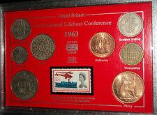 L'internationale de sauvetage fédération mer sauvetage maritime coin timbre ensemble cadeau 1963