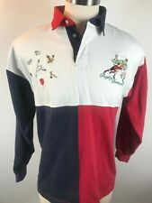 English Sports Shop Rugby Bermuda Rugby Jersey 100% Cotton Size Large Vintage