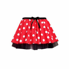 Girls Children's MINNIE MOUSE Style Fancy dress Tutu Skirt Dance Costume UK MADE