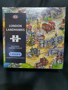 Gibsons G3402 London Landmarks 500 pce special boxing jigsaw puzzle