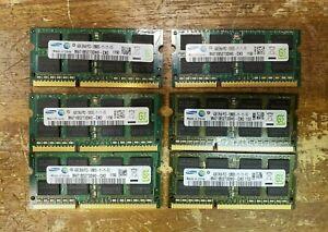 Lot of 6 Samsung 4GB SO-DIMM DDR3 1600 MHz PC3-12800S RAM (M471B5273DH0-CK0)