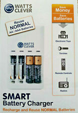 Smart Battery Charger - Reuse AA / AAA Normal Batteries, 'Watts Clever' SBC1001