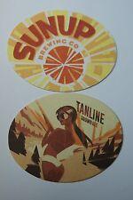 Beer Brewery Coaster ~*~ SunUp Brewing Co Tanline Brown Ale ~*~ Phoenix, ARIZONA