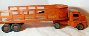 Vtg 1950's Structo Overland Freight Lines Transport Semi Truck Tractor Trailer