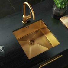Gold Stainless Steel Handmade Kitchen Sink with Strainer -Undermount Sink