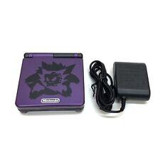 Nintendo Gameboy Advance SP Custom GBA SP Pokemon Gastly Gengar AGS 001
