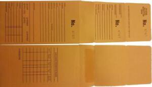 Repair/Layaway Envelopes 1000 count 3-part. You choose NUMBERED BOXED SETS