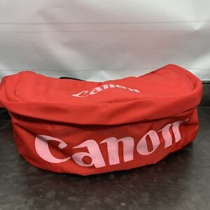 Vintage Red Canon Camera Fanny Waist Bag Red Pink