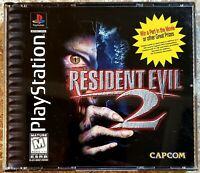 Resident Evil 2 - BLACK LABEL (PlayStation 1, 1998) COMPLETE **TESTED & WORKING*