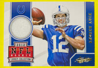 🔥2012 Absolute ANDREW LUCK NFL Rookie Jersey Collection Relic Card #3👀🤯😱