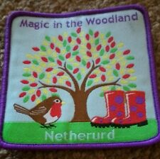 Netherud magic in the woodland badge. Girl Guides. Can be sewn on to blankets.