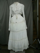 Victorian Dress Edwardian Costume Civil War Reenactment Style Black & White